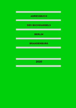 Adressbuch des Buchhandels Berlin-Brandenburg 2021 von Thomas,  Fabian