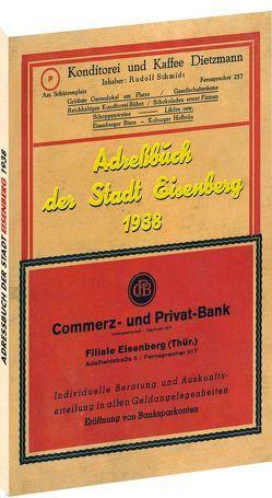Adressbuch der Stadt EISENBERG 1938 von Rockstuhl,  Harald
