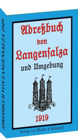 Adreßbuch / Einwohnerbuch der Stadt Langensalza 1919 von Rockstuhl,  Harald