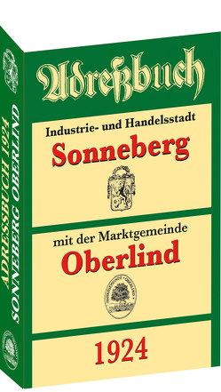 Adreßbuch / Einwohnerbuch der Stadt SONNEBERG mit Oberlind 1924 von Rockstuhl,  Harald