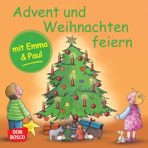 Advent und Weihnachten feiern mit Emma und Paul. Mini-Bilderbuch. von Bohnstedt,  Antje, Lehner,  Monika