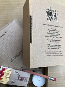 Advents Wunsch Schachtel Rentier von Bisewski,  Ulla Wanda