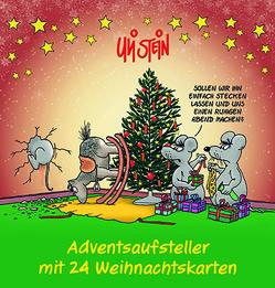 Adventsaufsteller mit 24 Weihnachtskarten von Stein,  Uli