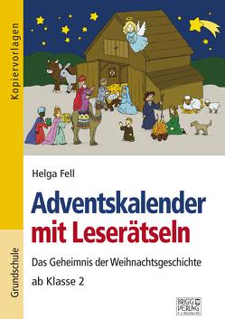 Adventskalender mit Leserätseln von Fell,  Helga