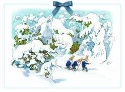 Adventskalender Zwerge im Schnee von Kreidolf,  Ernst