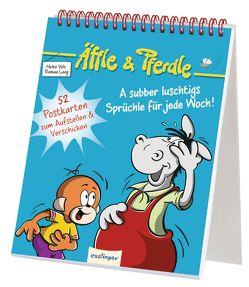 Äffle & Pferdle: A subber luschtigs Sprüchle für jede Woch! von Lang,  Roman, Volz,  Heiko