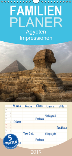 Ägypten – Impressionen – Familienplaner hoch (Wandkalender 2019 , 21 cm x 45 cm, hoch) von Weiss,  Michael