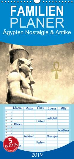 Ägypten Nostalgie & Antike – Familienplaner hoch (Wandkalender 2019 , 21 cm x 45 cm, hoch) von Hebgen,  Peter