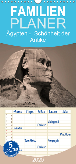 Ägypten – Schönheit der Antike – Familienplaner hoch (Wandkalender 2020 , 21 cm x 45 cm, hoch) von Wulf,  Guido