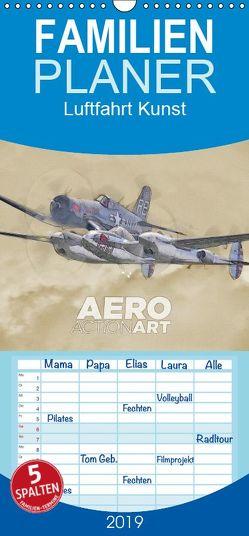 Aero Action Art – Luftfahrt Kunst – Familienplaner hoch (Wandkalender 2019 <strong>21 cm x 45 cm</strong> hoch) von Delhanidis,  Nick