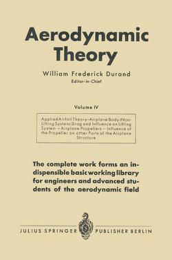 Aerodynamic Theory von Durand,  William Frederick