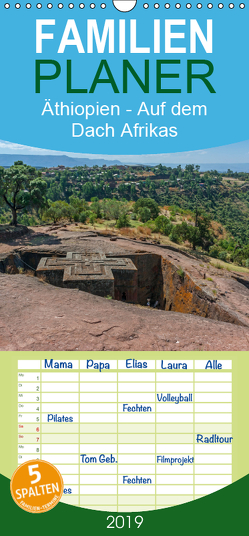 Äthiopien – Auf dem Dach Afrikas – Familienplaner hoch (Wandkalender 2019 , 21 cm x 45 cm, hoch) von Seifert,  Birgit