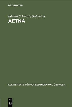Aetna von Schwartz,  Eduard, Vergilius Maro,  Publius