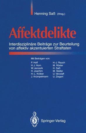 Affektdelikte von Sass,  Henning