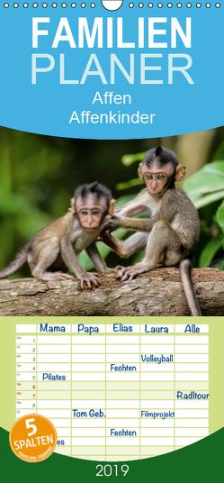 Affen – Affenkinder – Familienplaner hoch (Wandkalender 2019 , 21 cm x 45 cm, hoch) von Roder,  Peter