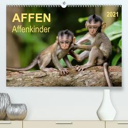 Affen – Affenkinder (Premium, hochwertiger DIN A2 Wandkalender 2021, Kunstdruck in Hochglanz) von Roder,  Peter