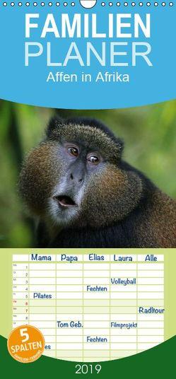 Affen in Afrika – Familienplaner hoch (Wandkalender 2019 , 21 cm x 45 cm, hoch) von Herzog,  Michael