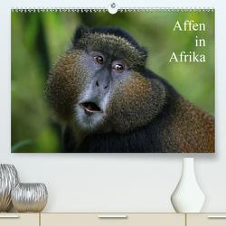Affen in Afrika (Premium, hochwertiger DIN A2 Wandkalender 2021, Kunstdruck in Hochglanz) von Herzog,  Michael