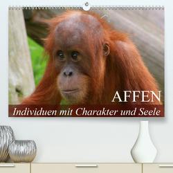 Affen – Individuen mit Charakter und Seele (Premium, hochwertiger DIN A2 Wandkalender 2020, Kunstdruck in Hochglanz) von Stanzer,  Elisabeth