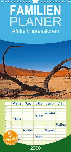 Afrika Impressionen. NAMIBIA – SÜDAFRIKA – BOTSWANA – Familienplaner hoch (Wandkalender 2020 , 21 cm x 45 cm, hoch) von Pavlowsky Photography,  Markus