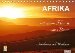 AFRIKA mit einem Hauch von Poesie (Tischkalender 2019 DIN A5 quer) von Woyke,  Wibke