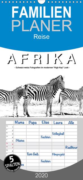 """AFRIKA – Schwarz-weiss Fotografien im modernen """"High Key"""" Look – Familienplaner hoch (Wandkalender 2020 , 21 cm x 45 cm, hoch) von Styppa,  Robert"""