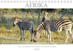 Afrika – Tiere im Krüger Nationalpark (Tischkalender 2019 DIN A5 quer) von Hoppe,  Franziska