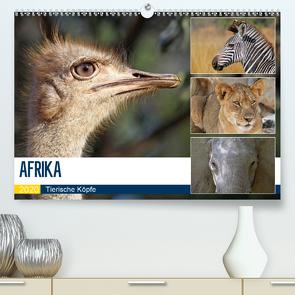 AFRIKA – Tierische Köpfe (Premium, hochwertiger DIN A2 Wandkalender 2020, Kunstdruck in Hochglanz) von Woyke,  Wibke