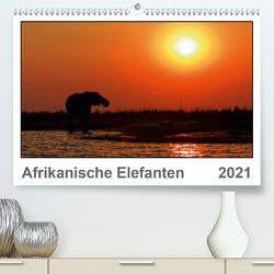 Afrikanische Elefanten (Premium, hochwertiger DIN A2 Wandkalender 2021, Kunstdruck in Hochglanz) von Wolf,  Gerald