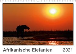 Afrikanische Elefanten (Wandkalender 2021 DIN A3 quer) von Wolf,  Gerald
