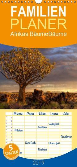 Afrikas Bäume – Familienplaner hoch (Wandkalender 2019 , 21 cm x 45 cm, hoch) von Voss,  Michael