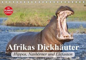 Afrikas Dickhäuter. Hippos, Nashörner und Elefanten (Tischkalender 2018 DIN A5 quer) von Stanzer,  Elisabeth