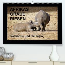 Afrikas Graue Riesen – Nashörner und Elefanten (Premium, hochwertiger DIN A2 Wandkalender 2020, Kunstdruck in Hochglanz) von Tkocz,  Eduard