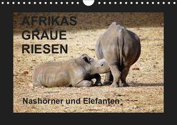 Afrikas Graue Riesen – Nashörner und Elefanten (Wandkalender 2019 DIN A4 quer) von Tkocz,  Eduard