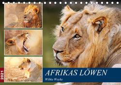 Afrikas Löwen 2021 (Tischkalender 2021 DIN A5 quer) von Woyke,  Wibke