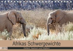 Afrikas Schwergewichte Elefant, Nashorn und Nilpferd (Tischkalender 2019 DIN A5 quer) von Kärcher,  Britta