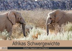 Afrikas Schwergewichte Elefant, Nashorn und Nilpferd (Wandkalender 2020 DIN A2 quer) von Kärcher,  Britta