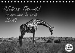 Afrikas Tierwelt in schwarz & weiß (Tischkalender 2019 DIN A5 quer) von und Holger Karius,  Kirsten