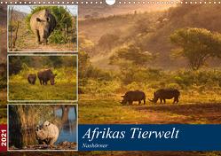 Afrikas Tierwelt: Nashörner (Wandkalender 2021 DIN A3 quer) von Voß & Doris Jachalke,  Michael