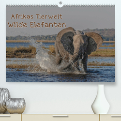 Afrikas Tierwelt – Wilde Elefanten (Premium, hochwertiger DIN A2 Wandkalender 2020, Kunstdruck in Hochglanz) von Voss,  Michael