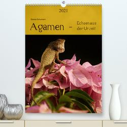 Agamen – Echsen aus der Urzeit (Premium, hochwertiger DIN A2 Wandkalender 2021, Kunstdruck in Hochglanz) von Schumann,  Bianca