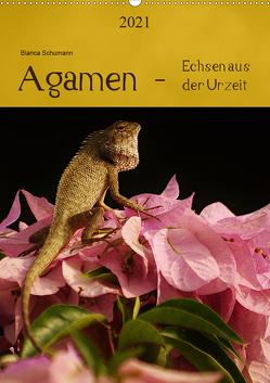 Agamen – Echsen aus der Urzeit (Wandkalender 2021 DIN A2 hoch) von Schumann,  Bianca