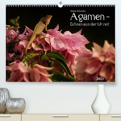 Agamen – Echsen aus der UrzeitCH-Version (Premium, hochwertiger DIN A2 Wandkalender 2021, Kunstdruck in Hochglanz) von Schumann,  Bianca