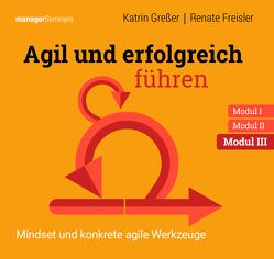 Agil und erfolgreich führen Modul III: Mindset und konkrete agile Werkzeuge von Freisler,  Renate, Greßer,  Katrin