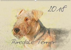 Airedale Terrier 2018 (Wandkalender 2018 DIN A2 quer) von Redecker,  Andrea
