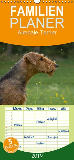 Airedale-Terrier, was sonst! – Familienplaner hoch (Wandkalender 2019 , 21 cm x 45 cm, hoch) von Janz,  Michael