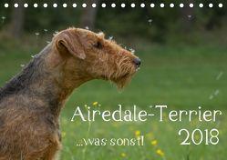 Airedale-Terrier, was sonst! (Tischkalender 2018 DIN A5 quer) von Janz,  Michael