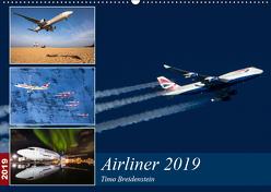 Airliner 2019 (Wandkalender 2019 DIN A2 quer) von Breidenstein,  Timo