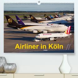 Airliner in Köln(Premium, hochwertiger DIN A2 Wandkalender 2020, Kunstdruck in Hochglanz) von Spoddig,  Rainer