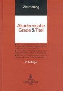 Akademische Grade und Titel von Zimmerling,  Wolfgang